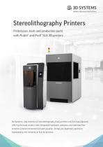 Stereolithography (SLA) Printers Brochure