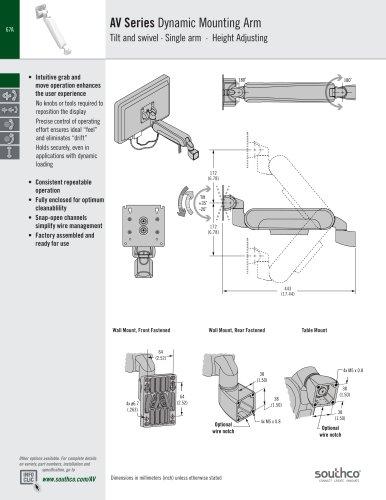 AV Series Dynamic Mounting Arm