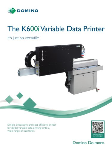 The K600i Variable Data Printer