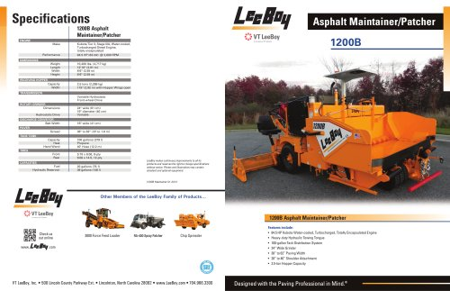 1200B Asphalt Maintainer