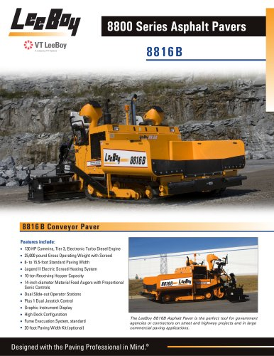 8816B Conveyor Paver