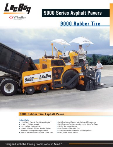 9000 Rubber Tire Paver (New)