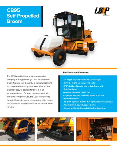 CB95 Self Propelled Broom