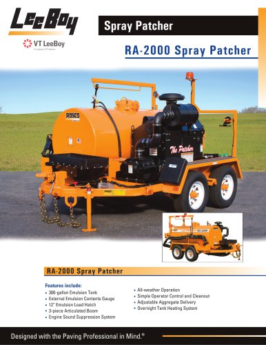 RA-2000:Pothole Patcher
