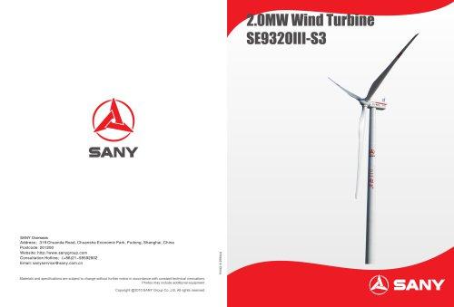 2.0 mw Wind Turbine SE9320III-S3