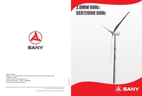 2.0 MW60HZ: SE8720IIIE 60Hz