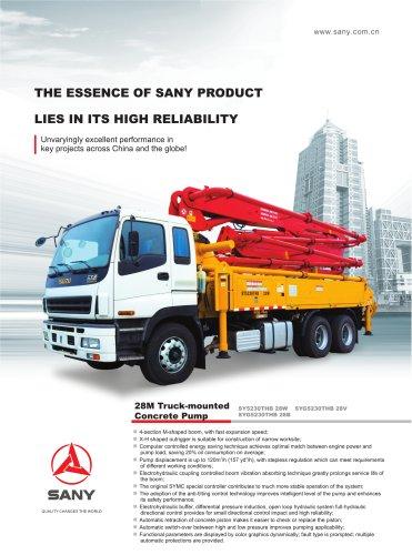 28M truck mounted concrete pump