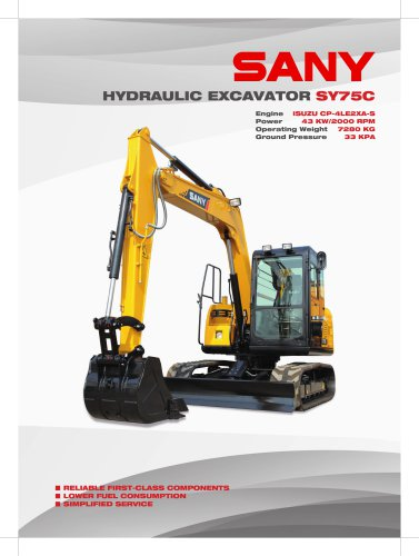 HYDRAULIC EXCAVATOR SY75C