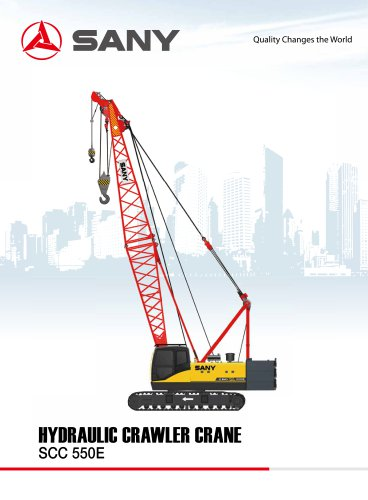 SANY BRAND SCC550E 55 TONS CRAWLER CRANE FOR CONSTRUCTION