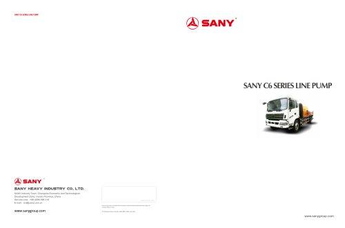 SANY C6 SERIES LINE PUMP