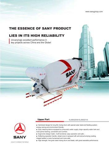 SANY Concrete Mixer Truck Upper Part GJBSZ08/GJBSZ10