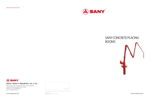 SANY CONCRETE PLACING BOOMS