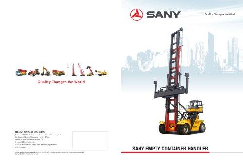 Sany empty container handler