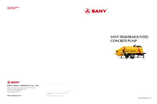 SANY HBT12020C-5W Trailer Pump