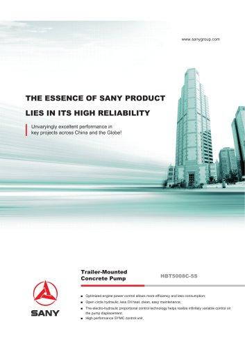 SANY HBT5008C-5S Trailer-Mounted Concrete Pump