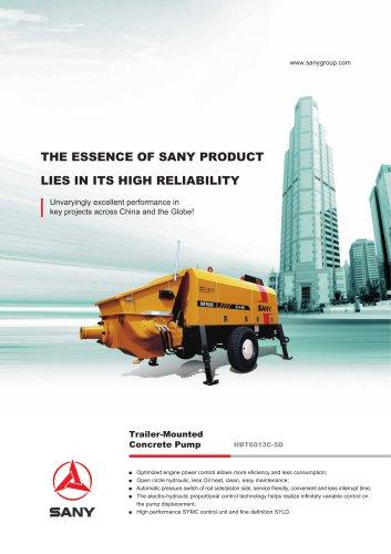 SANY HBT6013C-5D Trailer-Mounted Concrete Pump