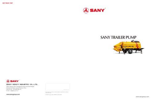 SANY HBT6013C-5D Trailer Pump