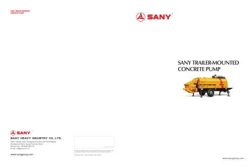 SANY HBT8018C-5D Trailer Pump