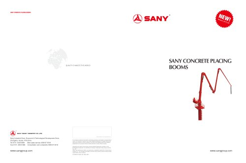 SANY HGY18 Placing Boom
