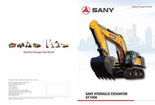 SANY HYDRAULIC EXCAVATOR SY700H