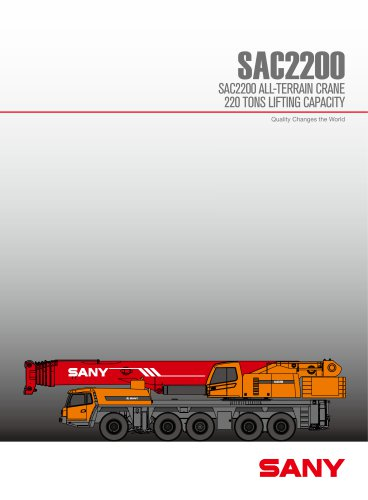 sany SAC2200 220ton all tarrain crane