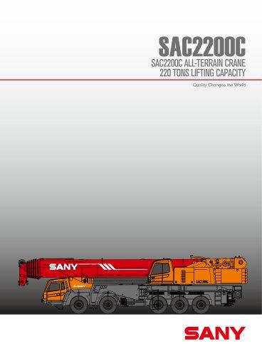 SANY SAC2200C 22TONS ALL TARRAIN CRANE