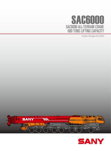 SANY SAC6000 600TON TRUCK CRANE
