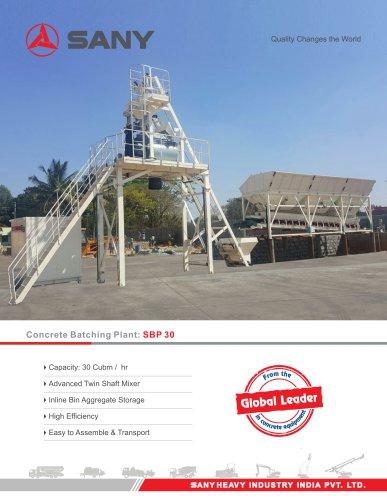 SANY SBP30 Batching Plant
