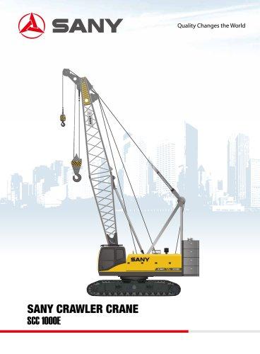 sany SCC1000E 100 tons crawler crane