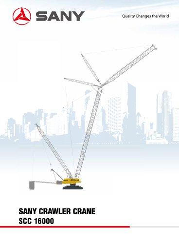 sany SCC16000 1600 tons crawler crane