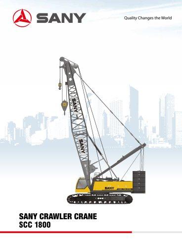SANY SCC1800D 180t crawler Crane