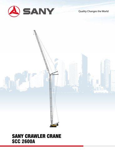 SANY SCC2600A Crawler Crane