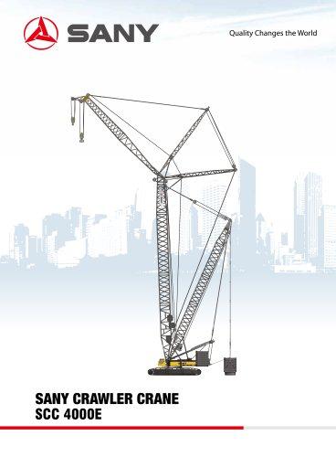 SANY SCC4000E Crawler Crane