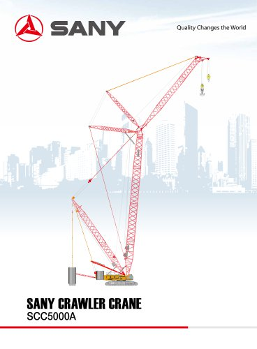 SANY SCC5000A Crawler Crane