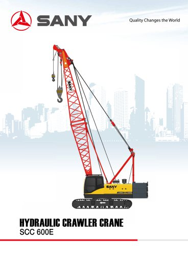 SANY SCC600E 60 TONS CRAWLER CRANE FOR BUILDING AND OIL EXPLORING