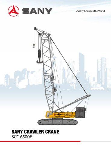 sany scc6500e 650t crawler crane