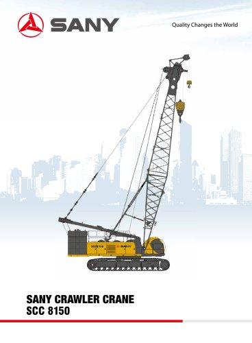 sany SCC8150 81.5 TONS CRAWLER CRANE