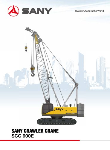 SANY SCC900E 90 tons crawler crane