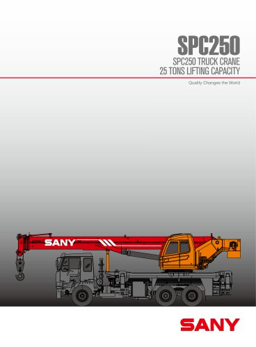 SANY SPC250 25ton general chasis truck mounted crane