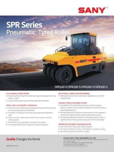 SANY SPR SERIES ROAD ROLLER