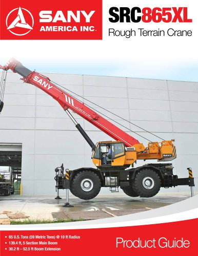 SANY SRC865XL Rough Terrain Crane