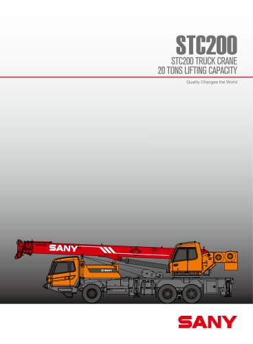 SANY STC200 20ton truck crane