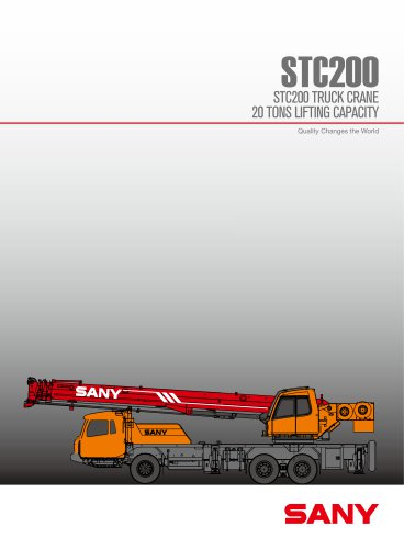 SANY STC200IR 20 tons truck crane in right drive