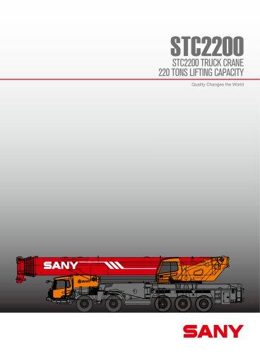 SANY STC2200 220TONS TRUCK CRANE