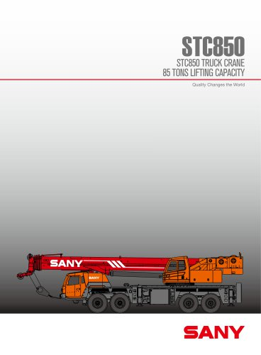 SANY STC850 TRUCK CRANE