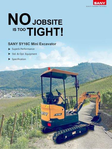 SANY SY16 mini excavator