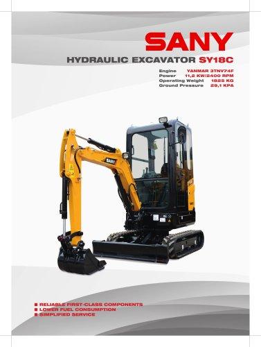 SANY SY18C 1.8 ton Excavator, Tier 4 Final