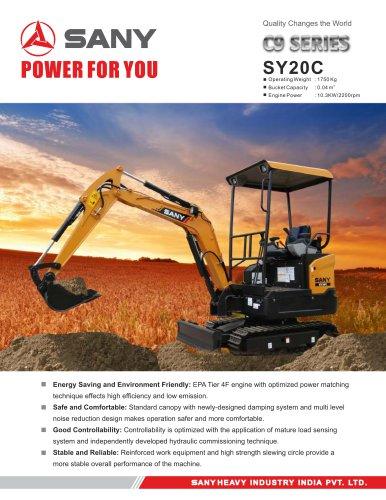 SANY SY20C 2 ton Excavator