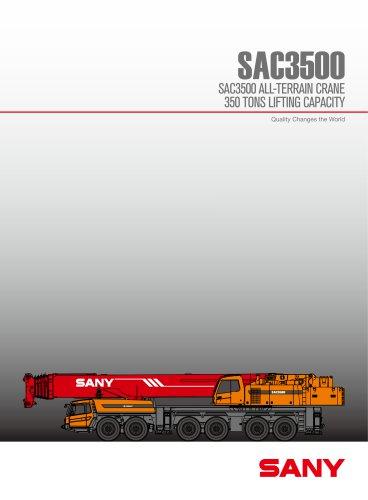 SANY SY3500 350 tons all tarrain crane