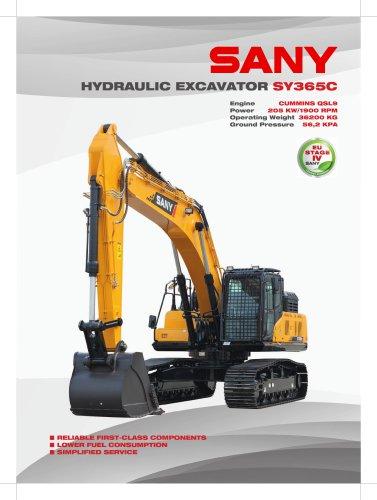SANY SY365c 36.5 TON Hydraulic Excavator